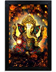 Home Attire Beautiful Ganesha  matte finish painting- Size-12x18 inches