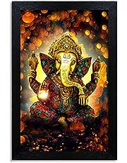 Home Attire Beautiful Ganesha matte finish painting- Size-12x18 inches