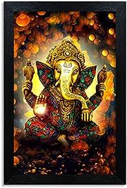 Home Attire HAP-1118 God Ganesha Painting, 12x18 inch