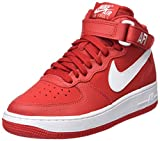 Nike Jungen Air Force 1 Mid (Gs) Basketballschuhe, Mehrfarbig (University Redwhite), 39 EU