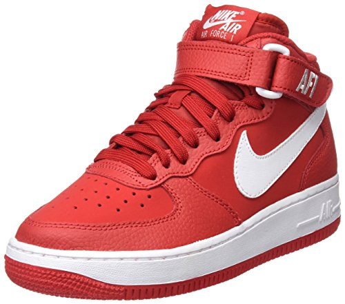 Nike Jungen Air Force 1 Mid (GS) Basketballschuhe, Mehrfarbig (University Redwhite), 39 EU (Kinder Force 1 Nike Air)