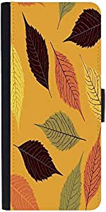 Snoogg Seamless Pattern With Leaf Designer Protective Phone Flip Case Cover For Redmi 2 Prime