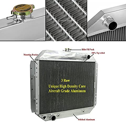 ALLOYWORKS 3 Row Aluminum Engine Cooling Radiator For Ford F100 F150 F250 F350 Pickup Bronco