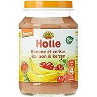Holle Compote de Banane Cerise Bio 190 g
