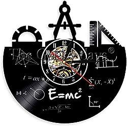 WADCRmgyx Elemento químico Tabla periódica Disco de Vinilo Reloj de Pared Química Fórmula matemática Ciencia Reloj de Pared Friki Gráfico Aula