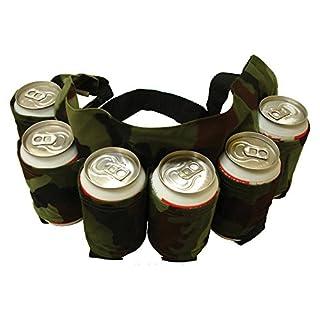 AJUSEN Biergürtel, Bier & Soda Kann Gürtel Hält 6 Getränke