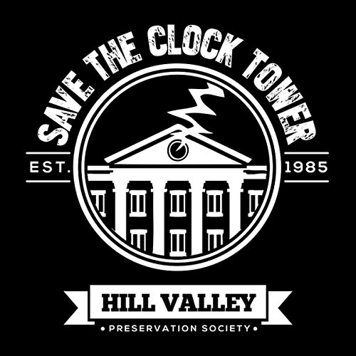 Back To The Future Save The Clock Tower Women's Vest Black