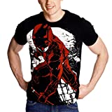 Daredevil - T-shirt uomo Fight Full Size Marvel cotone nero - L