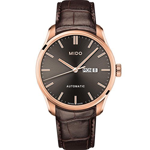 Mido Men's Belluna II 42.5mm Leather Band Automatic Watch M024.630.36.061.00