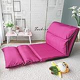 DSDjd Lazy Sofa Verstellbar Waschbar Klappsofa Boden Stuhl Comfort Soft Einzelsitz (Color : Rose)