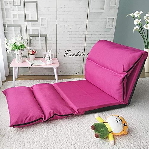 PSHjs Rückenlehne beinlosen Stuhl faltbar abnehmbar und waschbar für Heimkino-Sitz, Liege, Schlafzimmer Erker Stuhl (Color : Rose)