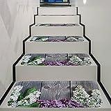 MYLL Anti-Rutsch-Treppenteppich-Treads Waschbare Treppematte mit Klebeband und Gummibeschichtung