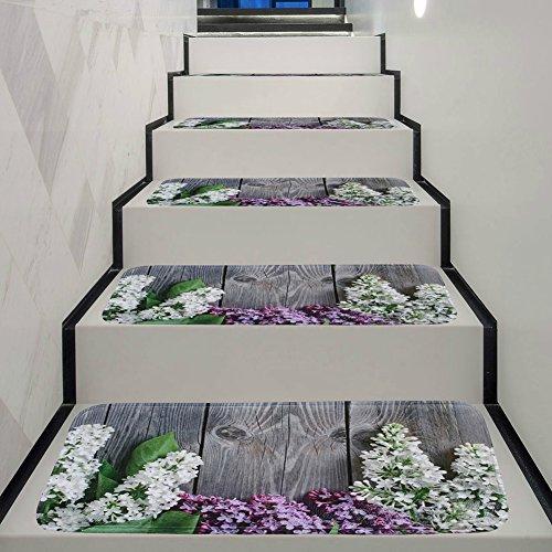 zyqhy Teppich Stufenmatten Anti-Rutsch-Stufenmatte, Stufenmatten, mit Klebestreifen, Gummi, muster 4, 70x22x1cm