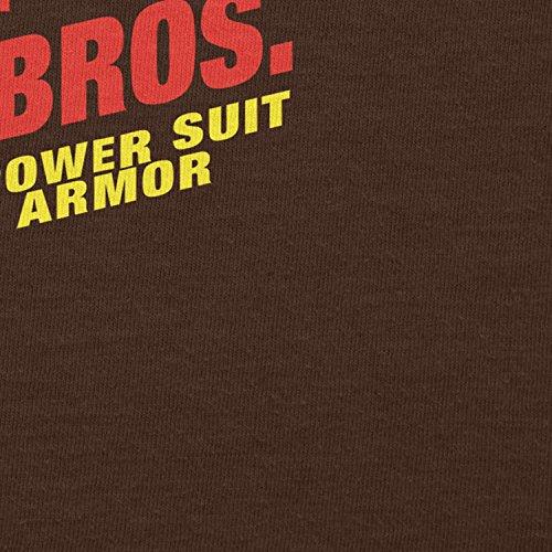 ... NERDO - Super Iron Bros - Damen T-Shirt Braun ...