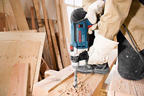 Bosch Professional GSB 16 RE Schlagbohrmaschine + Schnellspannbohrfutter 13 mm + Tiefenanschlag 210 mm + Zusatzhandgriff + Koffer (750 W) - 4