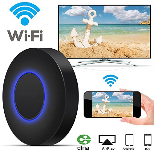 Wireless Display Adapter, GOXMGO WiFi Wireless HDMI Dongle 1080P HDTV Adapter, Unterstützung & Miracast & AirPlay Spiegelung Bildschirm für iOS Android Smartphones Wiondows MacOS Laptops (Q1)
