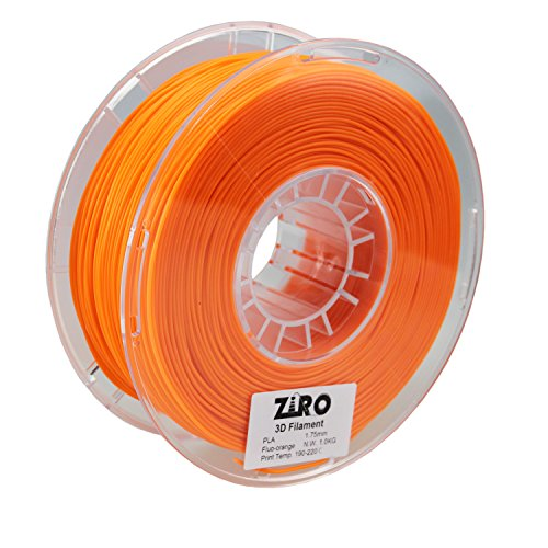 Price comparison product image ZIRO 3D Printer Filament PLA 1.75 1KG(2.2lbs),  Dimensional Accuracy + / - 0.05mm,  Fluo orange