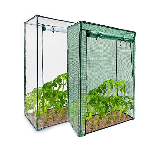 Relaxdays Tomatengewächshaus aus Stahlrohr u. Folie 150 x 100 x 50 cm (HxBxT), stabiles Treibhaus für Balkon u. Garten