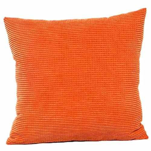 Kavitoz Dekorative Kissenbezug Weiche Plüsch Sofa Bett Stuhl Kissen Fall 45cm*45cm (Orange)