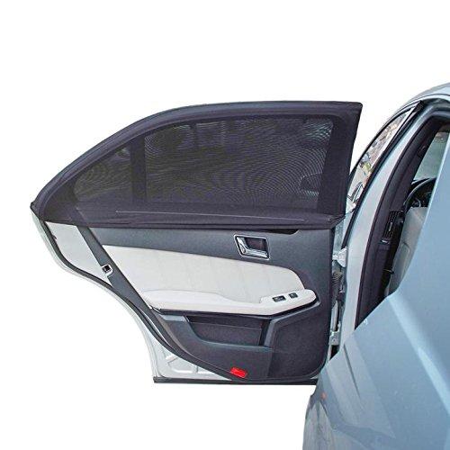 ILUXUS® 2nd Generation Universal Premium Qualität Baby-Sonnenblende für das Autoseitenfenster - schützt ihre Kinder vor Sonnenbrand - einlagiges Design -maximale Sicht - passt auf die meisten Autos, Jeep, Ford, Chevrolet, Buick, Audi, BMW, Honda, Mazda, Nissan und andere - 2 Stück,Fest Farbe