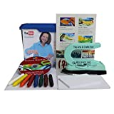 Encaustic beginner set with painting iron, wax colors, painting cards and instructions on