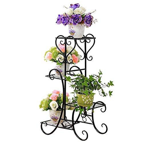 Fzn vasi da fiori stile pavimento in ferro da giardino fiori da giardino in stile europeo per interni ed esterni sottopentola ( colore : nero , dimensioni : 49*26*79cm )