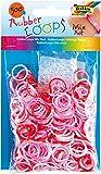Folia Rubber Loops Gummibänder, 500 Stück, Farbe:Rot Mix