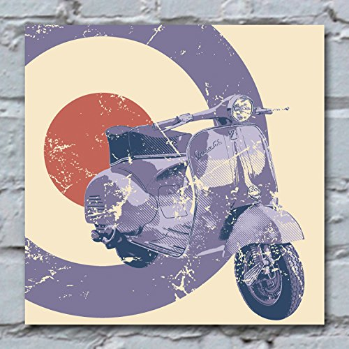30-x-30cm-canvas-art-print-blue-scooter-on-cream-with-target-vespa
