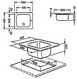 Smeg VS34P3RA Edelstahl-Spüle Kupfer Einbau-Spüle Spültisch Küchenspüle Einbau