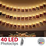 B.K.Light LED Photo Light Chain with 40 LED Photo Clips