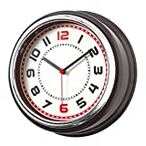 Wanduhr Retro 30,1 x 10,2 cm Moderne Wanduhren 8 cm Kunststoff Rahmen