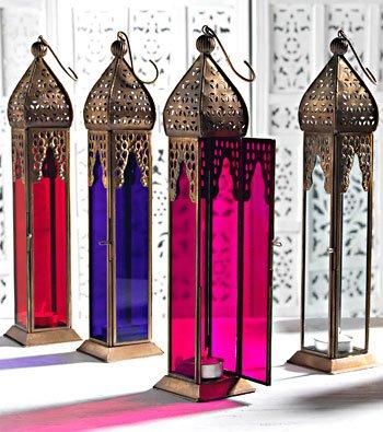 Candle lanterns - Elegante linterna alargada de estilo marroquí