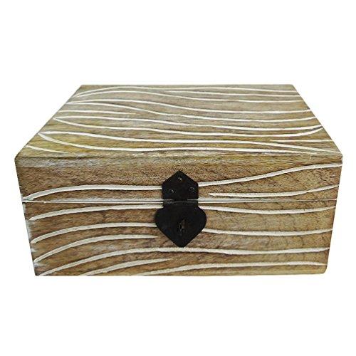 scatola decorativa stile indiano epoca artigianale tavolo scatola di legno top accessori regalo casella di blocco Kundi decorativo - Piccole Scatole Decorative