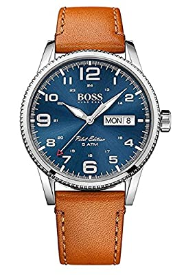 HUGO BOSS Men's Analogue Quartz Watch with Leather Strap - 1513331