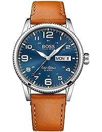 Hugo Boss Reloj Analógico para Hombre con Correa en Cuero 1513331