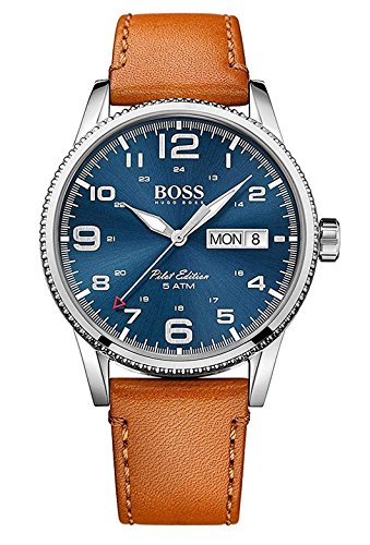 Hugo Boss Herren-Armbanduhr 1513331 - Leder Hugo Boss Braun