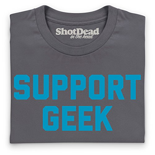 Support Geek T-Shirt, Herren Anthrazit
