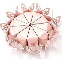 100pz coni Farfalle Perlata Colore Rosa Carne Matrimonio Bomboniere Porta riso Porta confetti