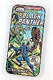 Le Black Panther DC Marvel Super-héros Comic Coque Vintage pour iPhone 5/5s en plastique Etui/Housse rigide noir de protection