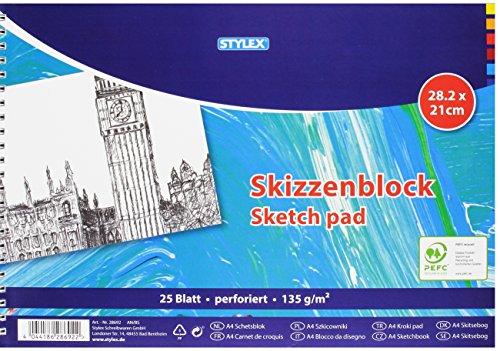 Stylex STYLEX-28692, Papier, weiß, 21 x 30 x 1.6 cm
