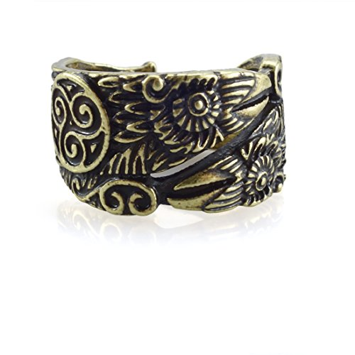 URBANTIMBER Ring Hugin & Munin mit Triskele - Silber oder Bronze/Gold - Bronze Ring