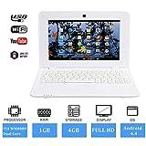 FANCY CHERRY 2017 HD 10 Zoll Mini Laptop Notebook Netbook Tablet Computer 1G DDR3 ÜBER WM8880 CPU Dual Core Android Bildschirm WiFi Kamera Tastatur USB HDMI (Netbook 4G-Weiß)