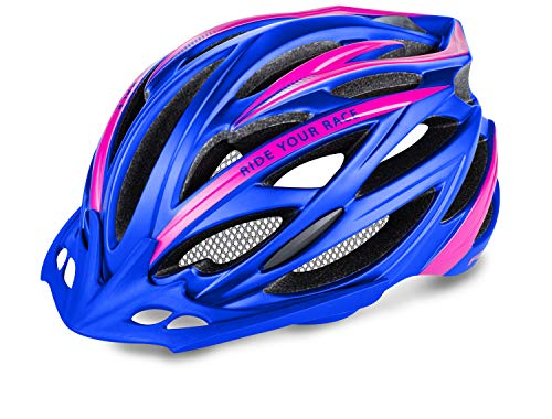 R&R Rennradhelm Arrow | Fahrradhelm | Radhelm | MTB-Helm | Triathlon-Helm | Damen und Herren (violett/pink, M (56-58))