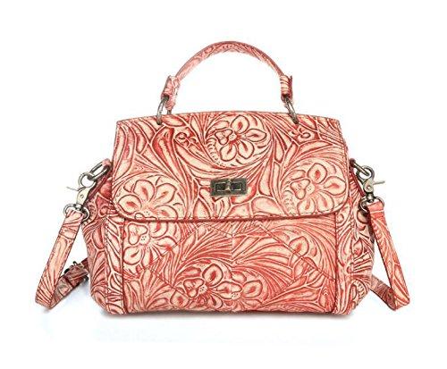 Buchsenleiste Schicht aus Leder Damen Laptop Messenger Tasche Leder Vintage Handtaschen Red