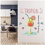 azutura Viaggio Tropicale Bevanda Cocktail Adesivo Murale Disponibile in 8 Misure XX-Grande Digitale