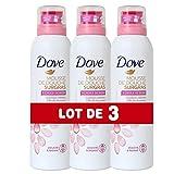 Dove Gel Douche Mousse Surgras à l'Huile de Rose, Formule Testée Dermatologiquement et Sans Sulfate, Sans Paraben (Lot de 3x200ml)