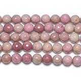 Strang 45+ Pink Rhodonit 8mm Facettiert Rund Perlen - (GS2776-2) - Charming Beads