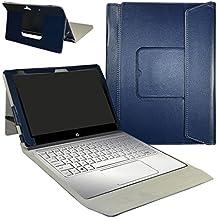 """HP Spectre x2 12 Funda,Mama Mouth 2-en-1 Portafolio de Cuero Sintético con Soporte y Base de Teclado desmontable para para 12"""" HP Spectre x2 12 Windows 10 2-in-1 Tablet,Azul"""