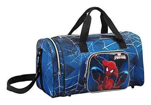 Safta Spiderman Bolsa de Deporte Infantil, Color Azul Marino