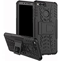 Huawei Honor 7X case,Stylish cover GOGME [Tough Armor Series]Rugged TPU/PC Double layer Hybrid Armor, Anti-Scratch PC back panel + Shockproof TPU Inner protective +foldable holder,perfectly adapted to your Huawei Honor 7X.black